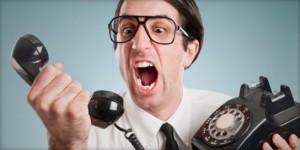 Guy yelling at phone